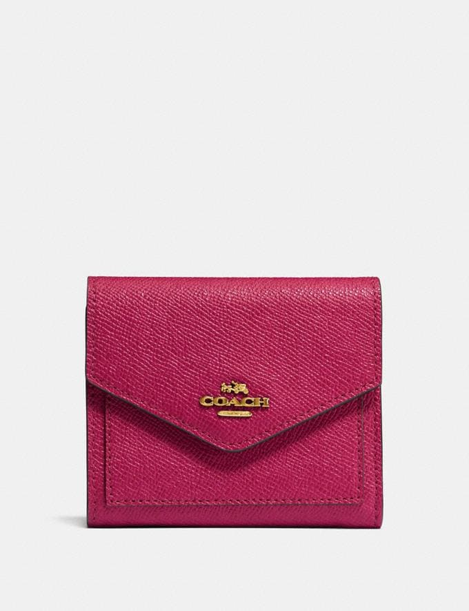 Coach Kleines Portemonnaie Bright Cherry/Gold