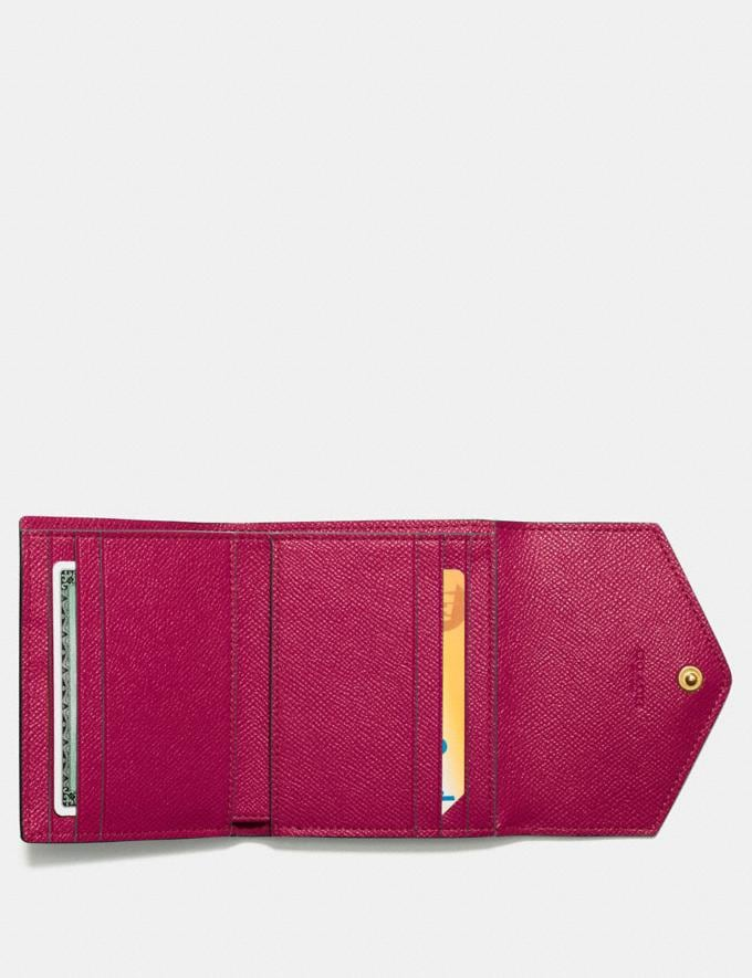 Coach Small Wallet Bright Cherry/Gold  Alternate View 1