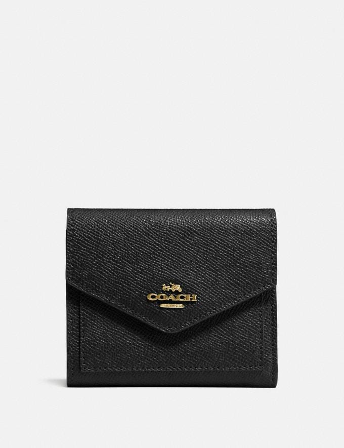 Coach Small Wallet Black/Light Gold Gift For Her Under €100