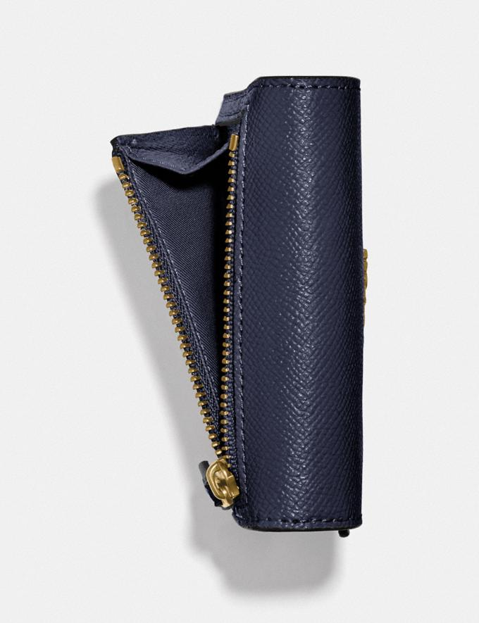 Coach Small Wallet Navy/Light Gold  Alternate View 2