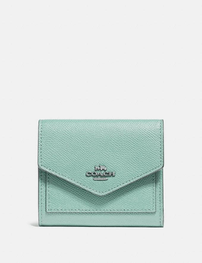 Coach Small Wallet Light Teal/Silver SALE Women's Sale Wallets & Wristlets