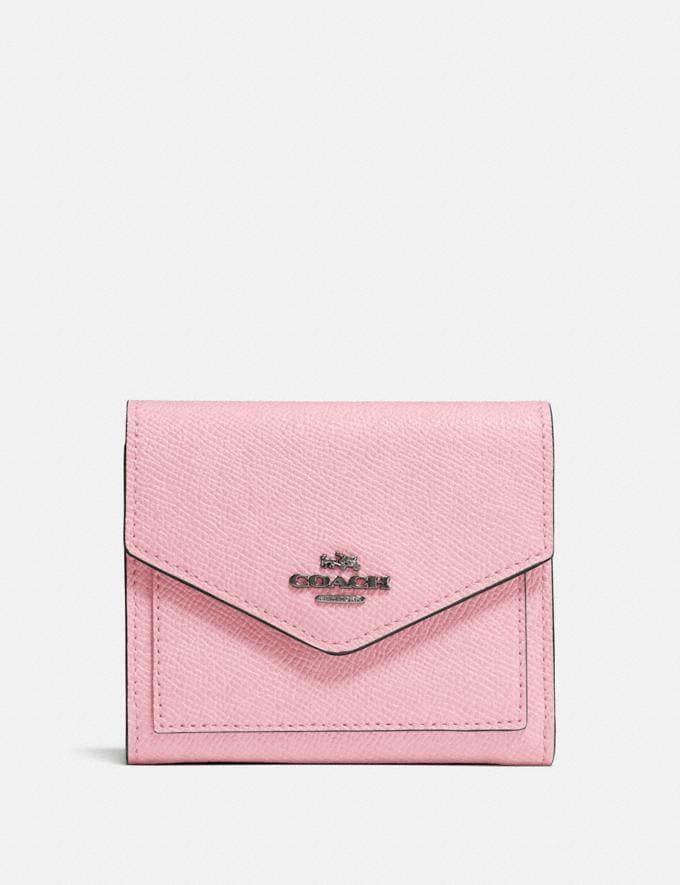 Coach Kleines Portemonnaie Blaugrau/Aurora PRIVATER SALE Sale: Damen Portemonnaies und Taschen mit Handschlaufen