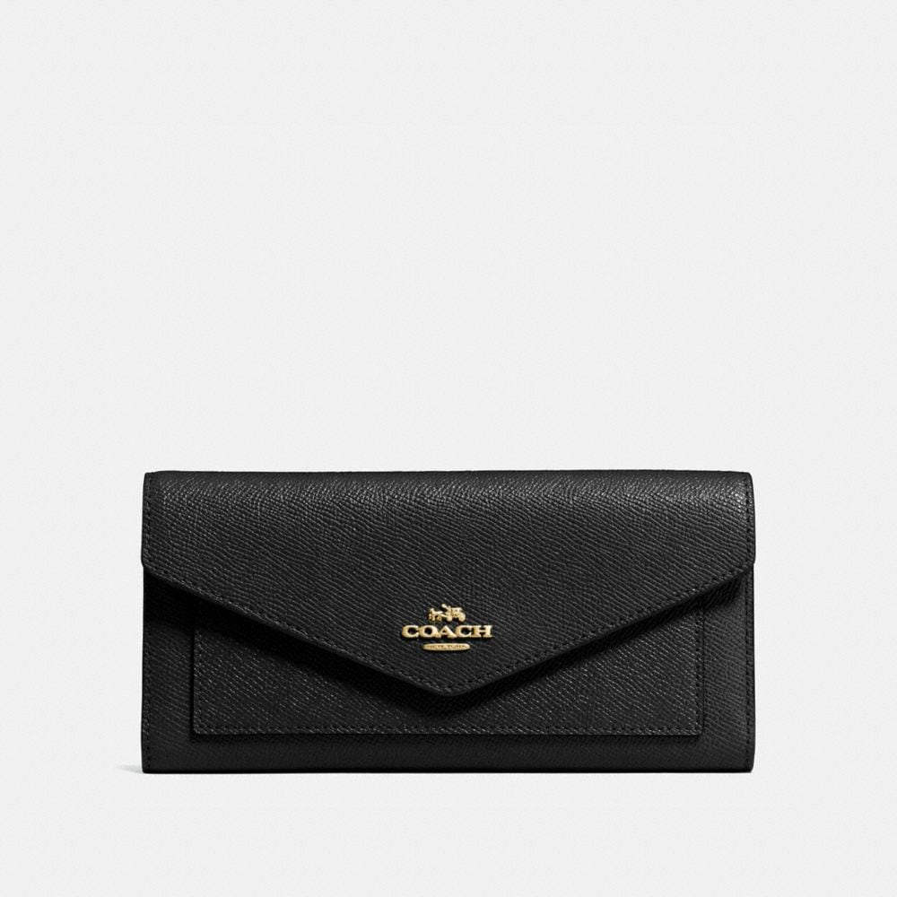TRIFOLD WALLET IN CROSSGRAIN LEATHER