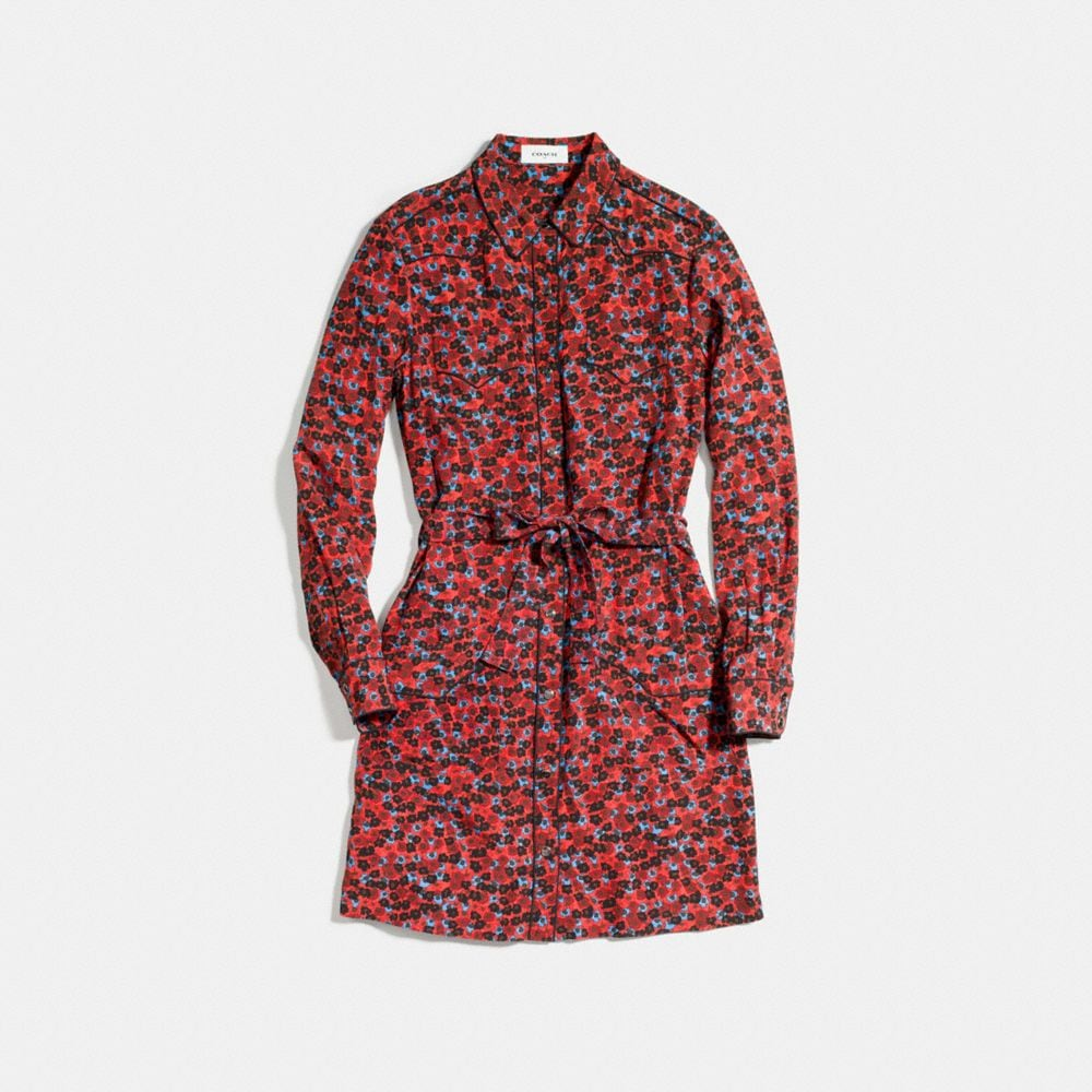 Piped Shirt Dress - Alternate View A1