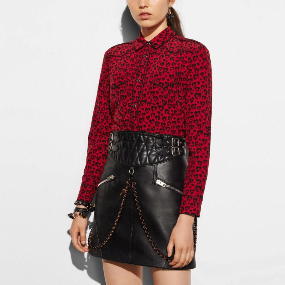 Coach Printed Piped Blouse