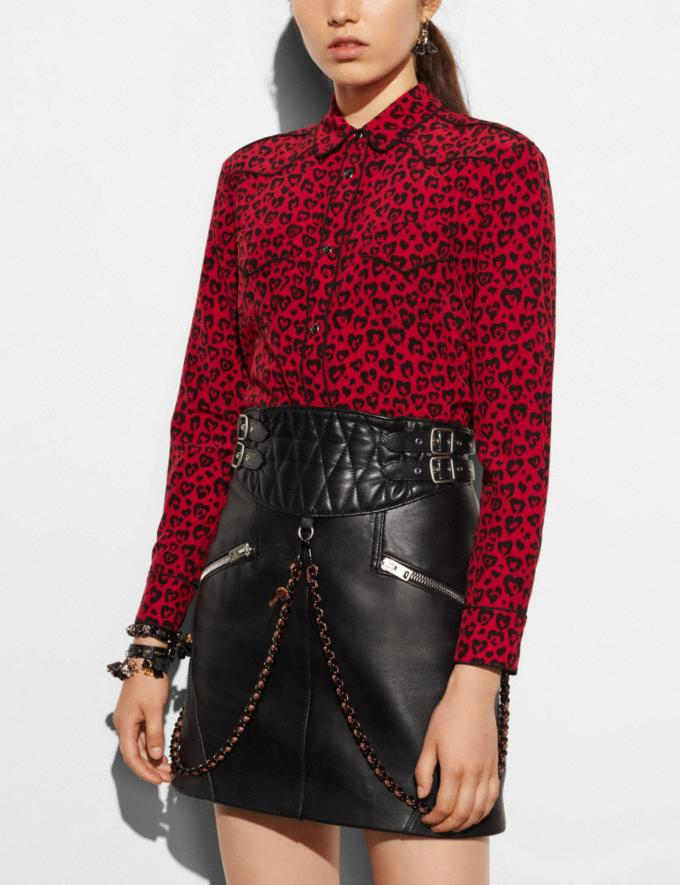 Coach Printed Piped Blouse Black Runway Shop Women Ready-to-Wear