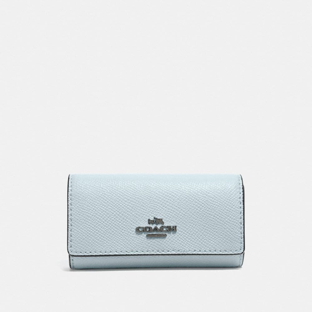 Coach Six Ring Key Case - Women'S in Dark Gunmetal/Sky