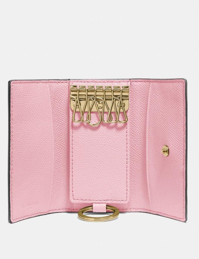 Coach Six Ring Key Case Blossom/Gold Women Wallets & Wristlets Small Wallets Alternate View 1