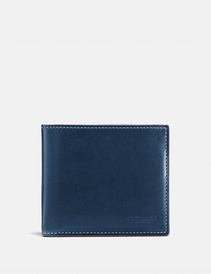 Coach Boxed Double Billfold Wallet Denim