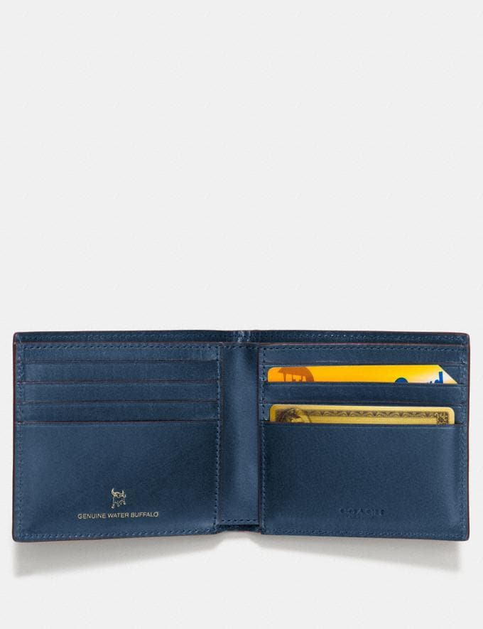Coach Boxed Double Billfold Wallet Denim  Alternate View 1