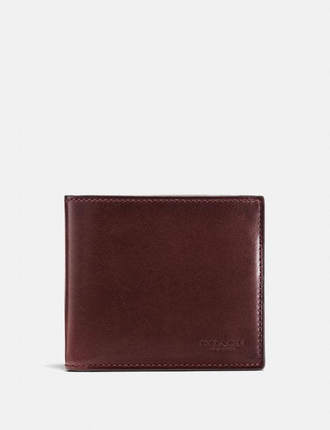 Coach Boxed Double Billfold Wallet Mahogany Coach Exclusive Event