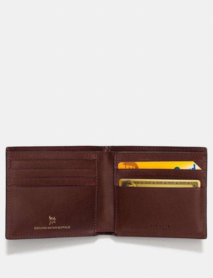 Coach Boxed Double Billfold Wallet Mahogany Men Wallets Alternate View 1