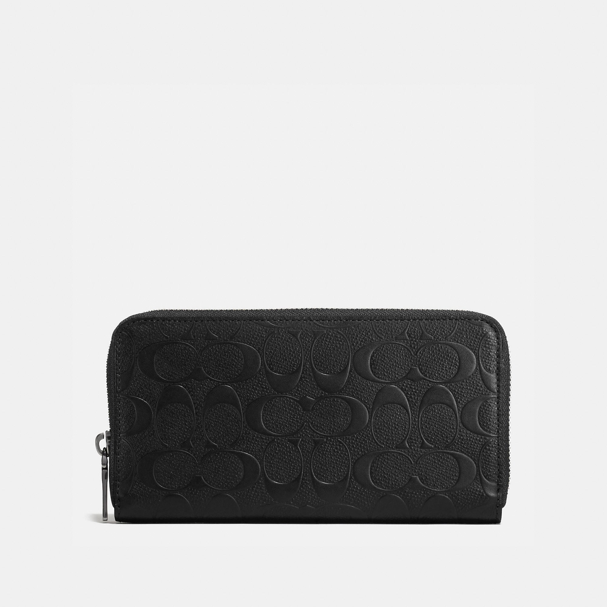 Coach Accordion Wallet In Signature Crossgrain Leather