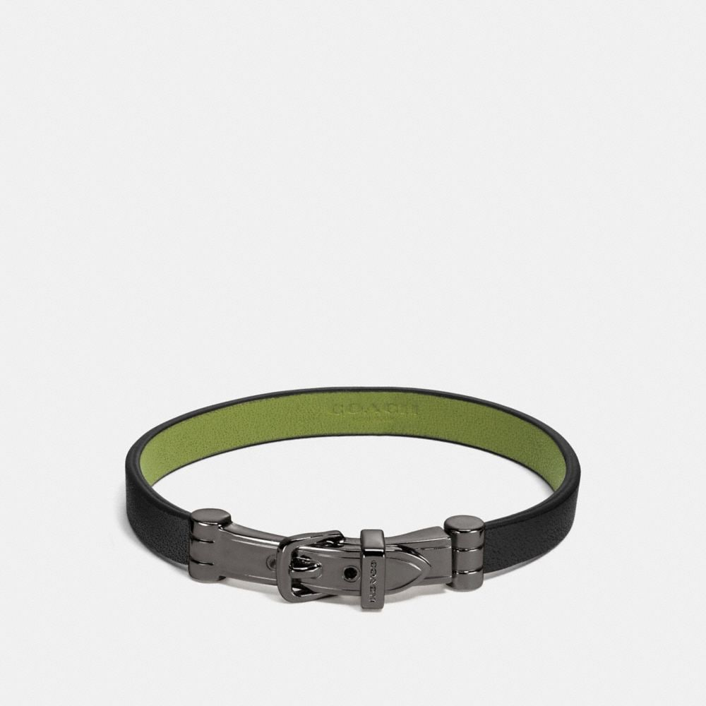 Coach Two Tone Buckle Bracelet