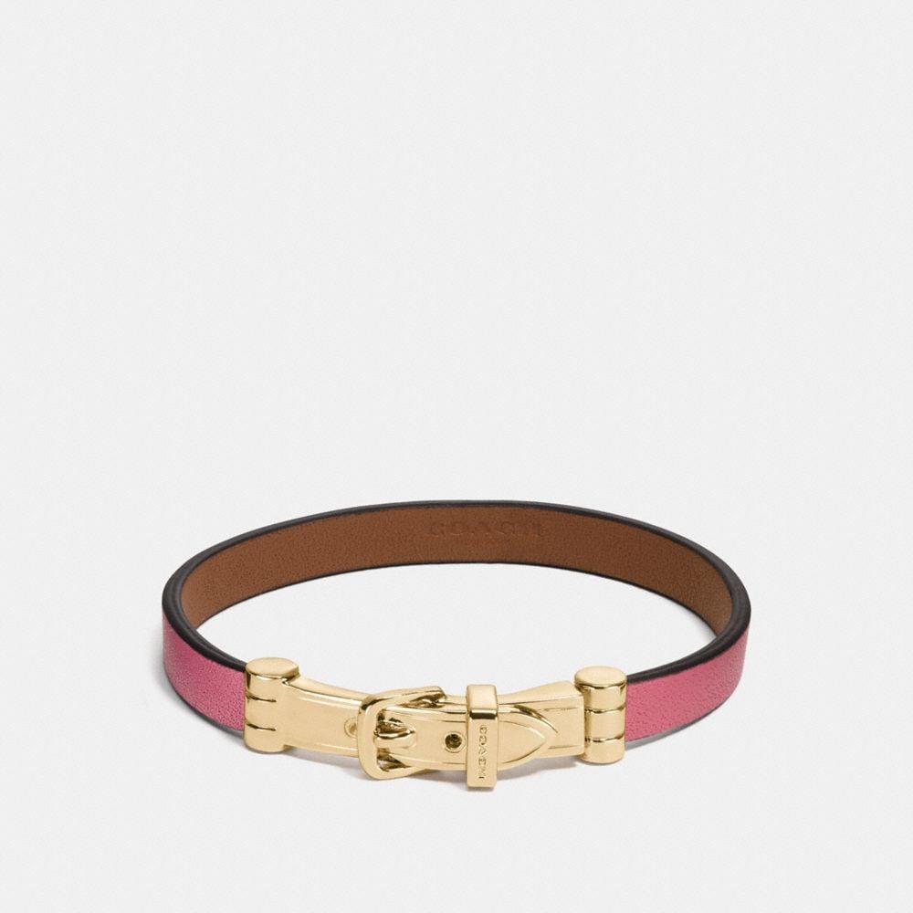 Coach Two Tone Buckle Bracelet