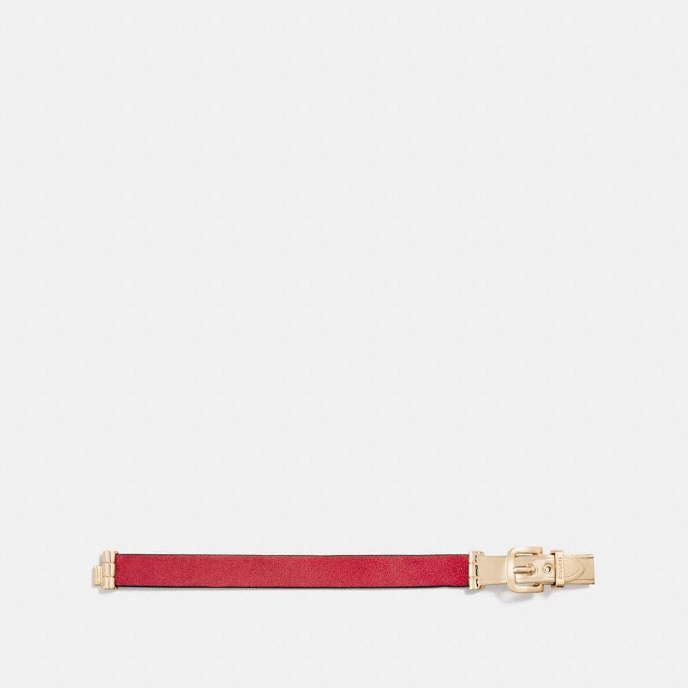 Coach Wide Two Tone Buckle Bracelet Alternate View 1
