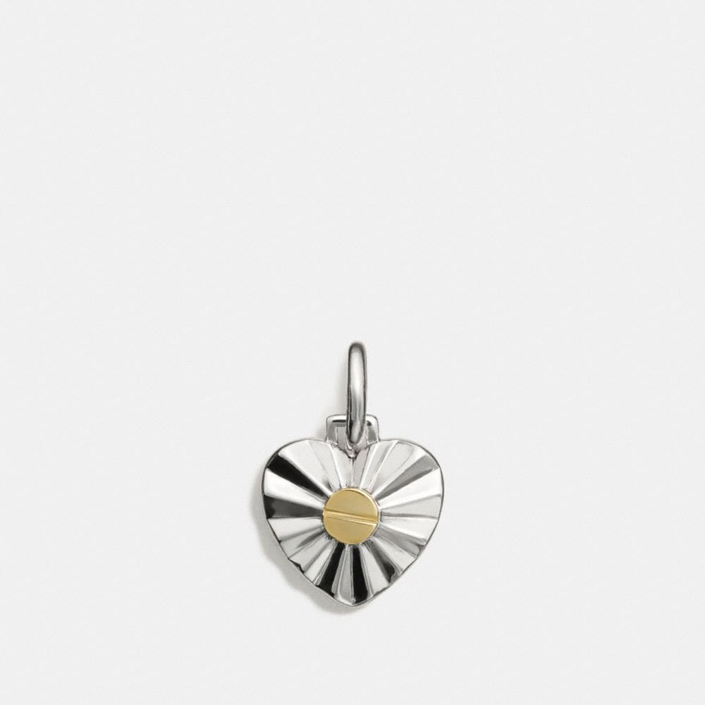COACH DAISY RIVET HEART CHARM