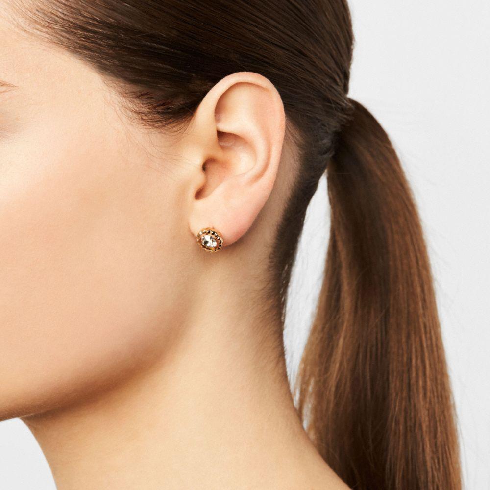 Coach Daisy Rivet Stone Stud Earring Alternate View 1