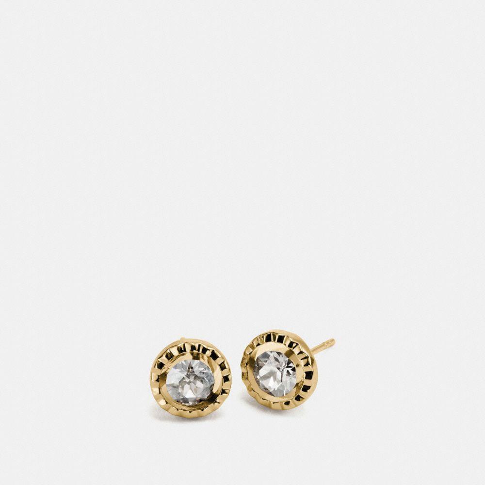 Daisy Rivet Stone Stud Earring