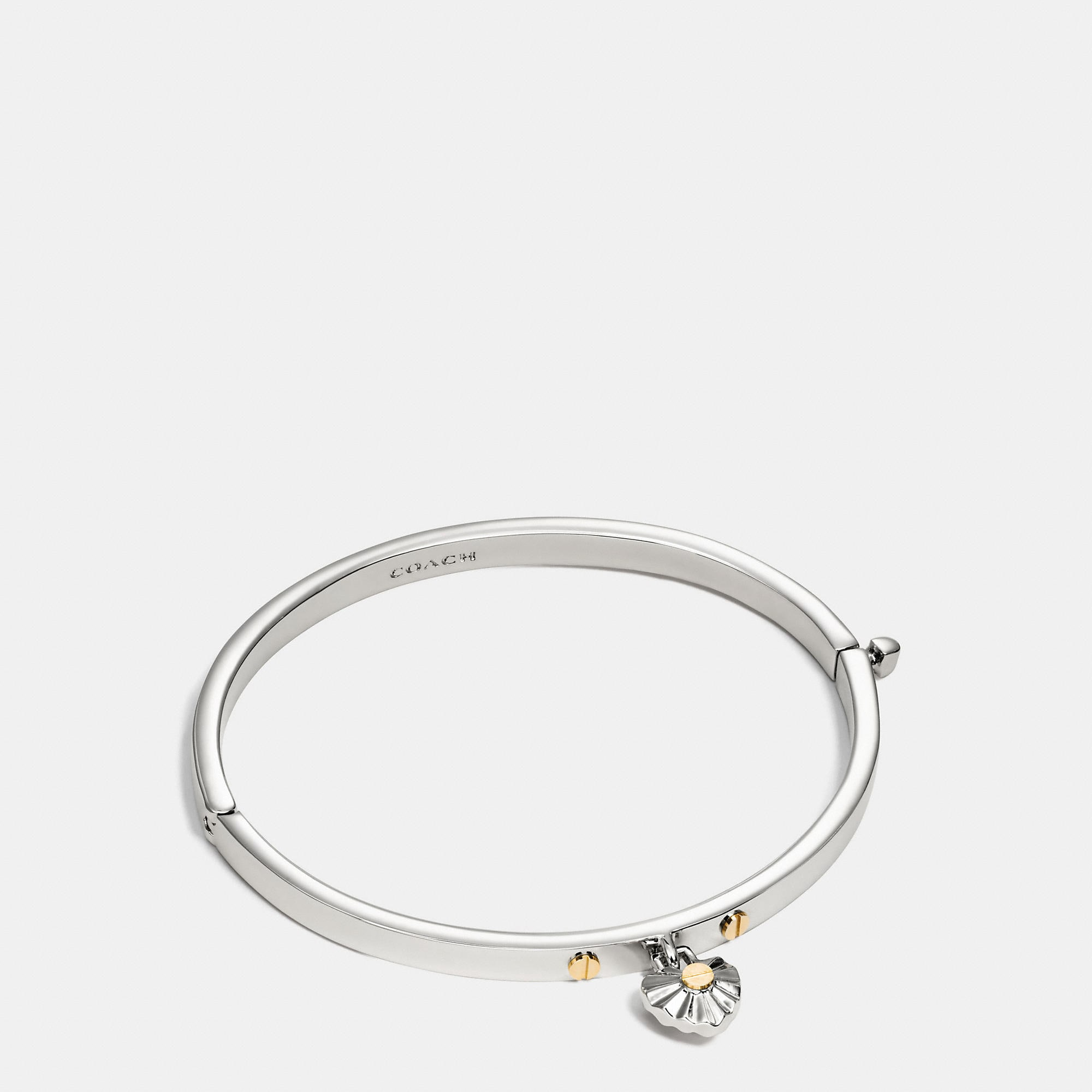 Coach Daisy Rivet Heart Hinged Bangle