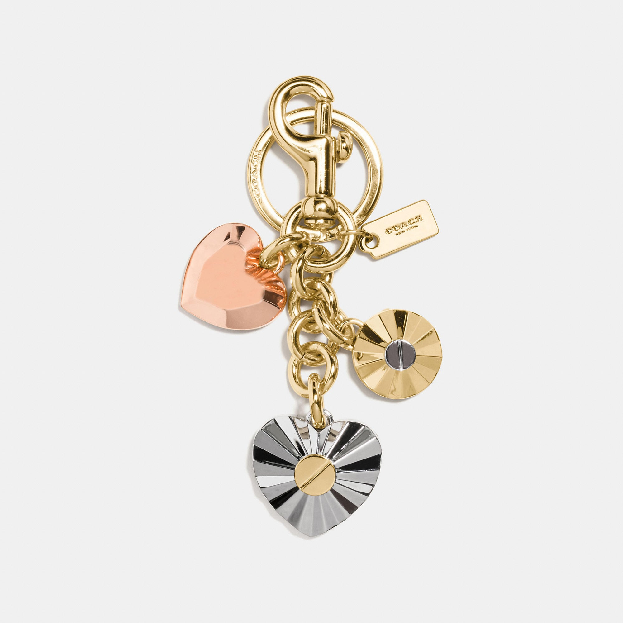 Coach Daisy Rivet Heart Locket Bag Charm