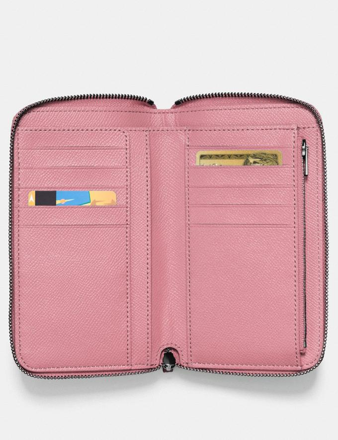 Coach Medium Zip Around Wallet Gunmetal/True Pink Gifts For Her Under $300 Alternate View 1