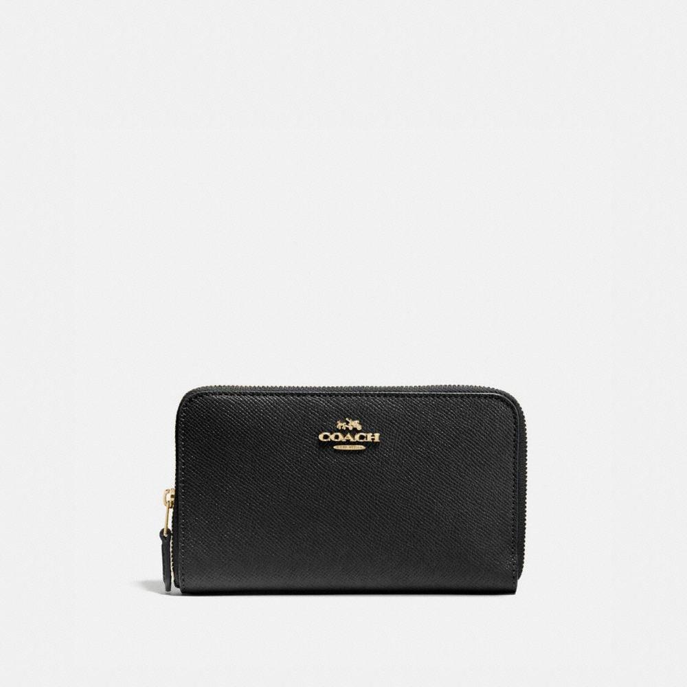 2984cf360f7a4 COACH Medium Zip Around Wallet - Women S
