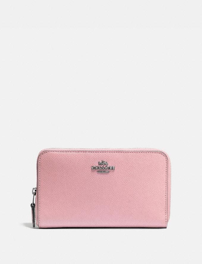 Coach Medium Zip Around Wallet Pewter/Aurora New Women's New Arrivals