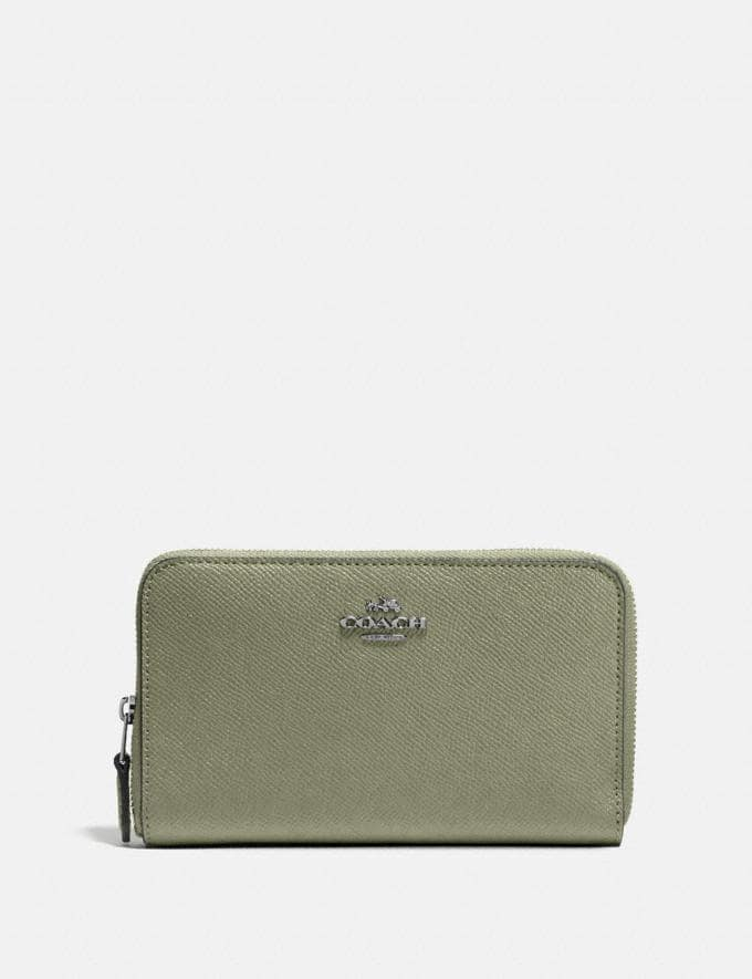 Coach Medium Zip Around Wallet V5/Light Fern New Women's New Arrivals