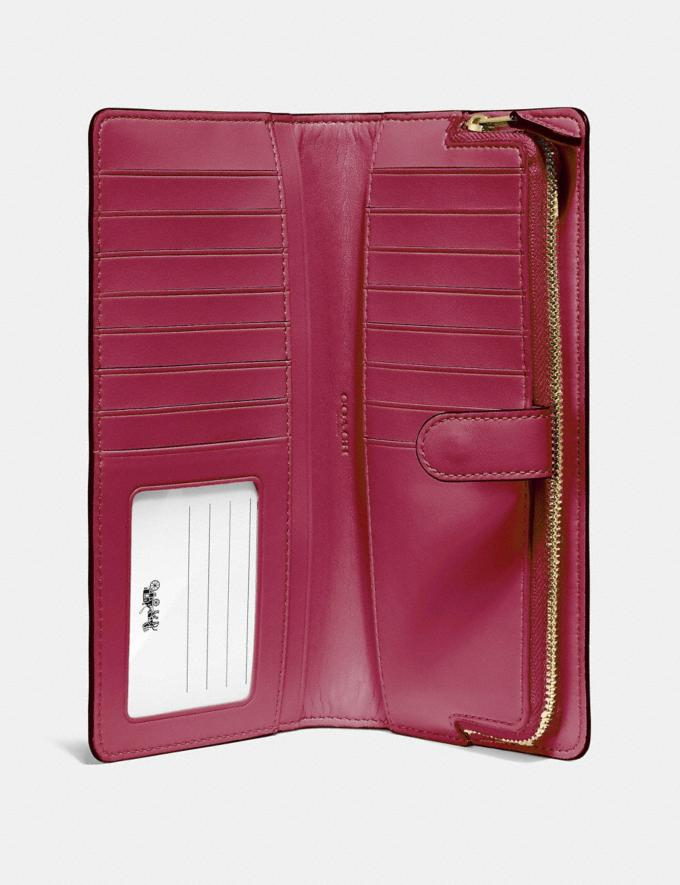 Coach Skinny Wallet Bright Cherry/Gold Customization For Her The Monogram Shop Alternate View 2