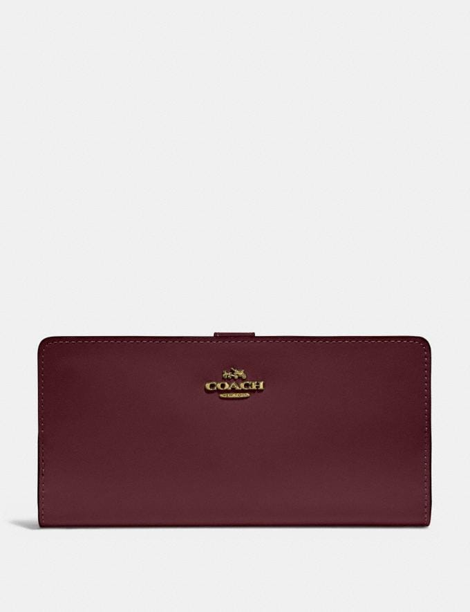 Coach Skinny Wallet Vintage Mauve/Gold Gifts For Her Bestsellers