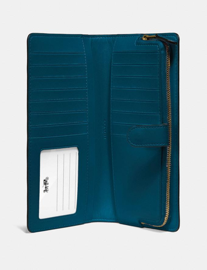 Coach Skinny Wallet Peacock/Gold Customization For Her The Monogram Shop Alternate View 2
