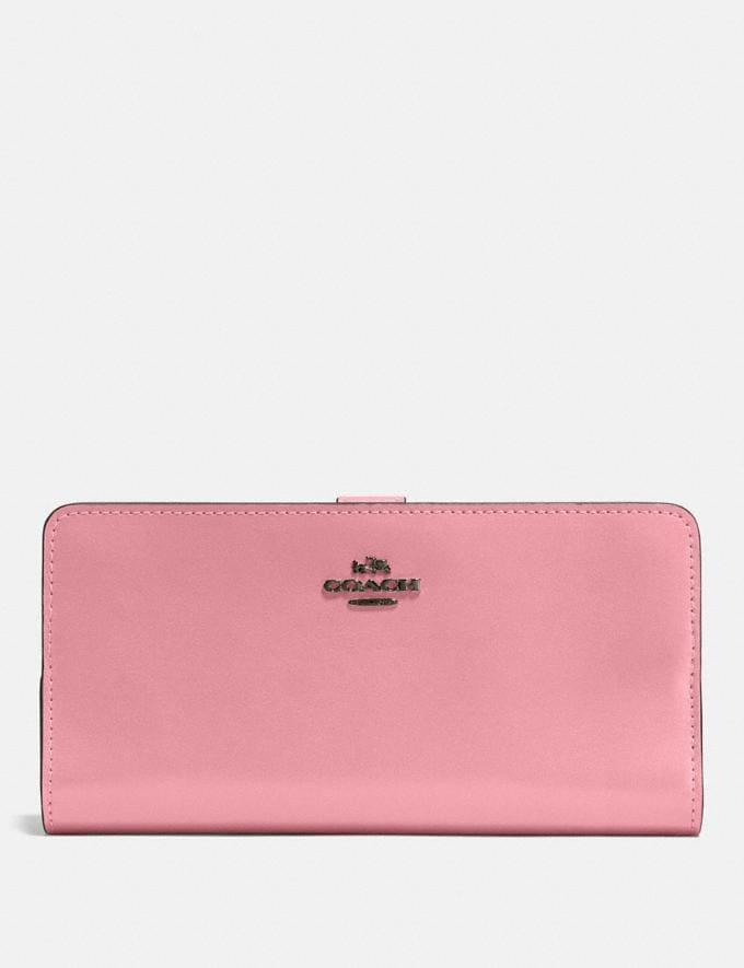 Coach Skinny Wallet Gunmetal/True Pink Gifts For Her Bestsellers
