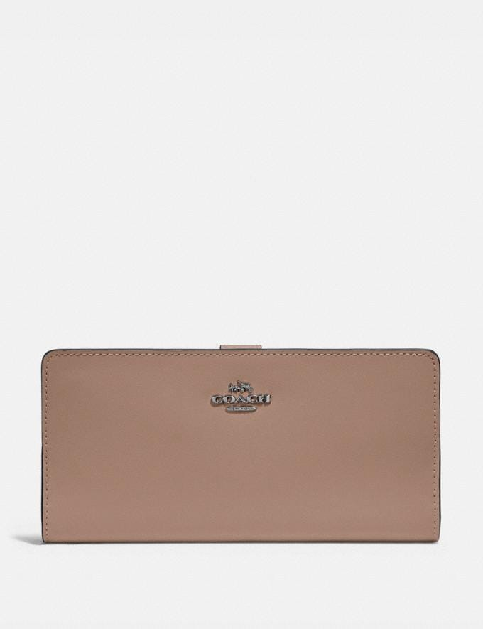 Coach Skinny Wallet Light Nickel/Taupe Gifts For Her