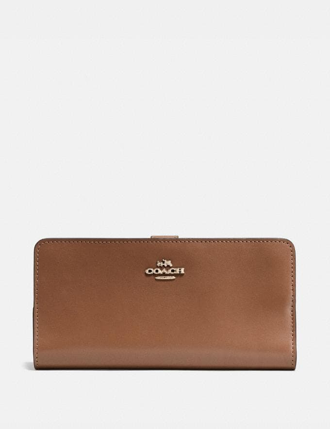 Coach Skinny Wallet 1941 Saddle/Light Gold 30% off Select Full-Price Styles