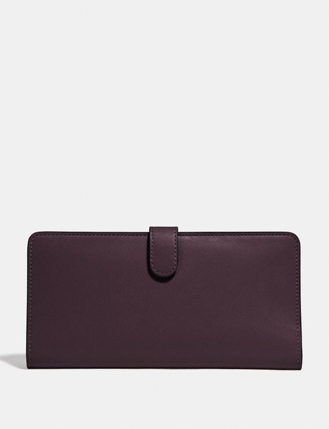 Coach Skinny Wallet Oxblood/Light Gold Gifts For Her Under $300 Alternate View 1