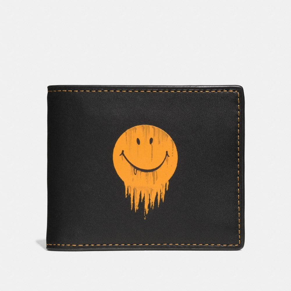 Coach 3-In-1 Wallet in Glovetanned Leather With Gnarly Face Print