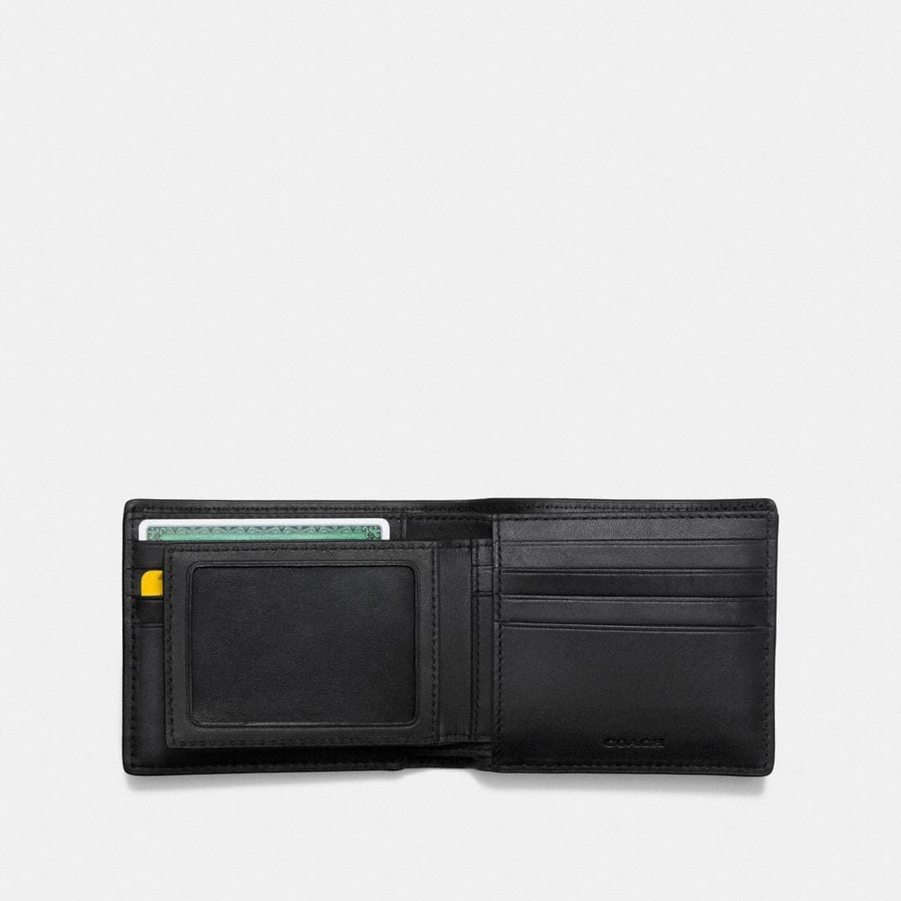 Coach 3-In-1 Wallet in Glovetanned Leather With Gnarly Face Print Alternate View 2