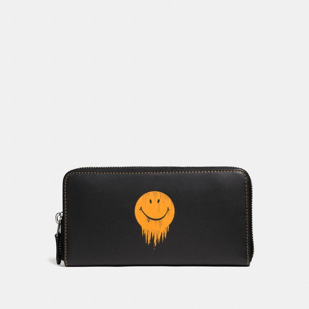 Coach Accordion Wallet in Glovetanned Leather With Gnarly Face Print