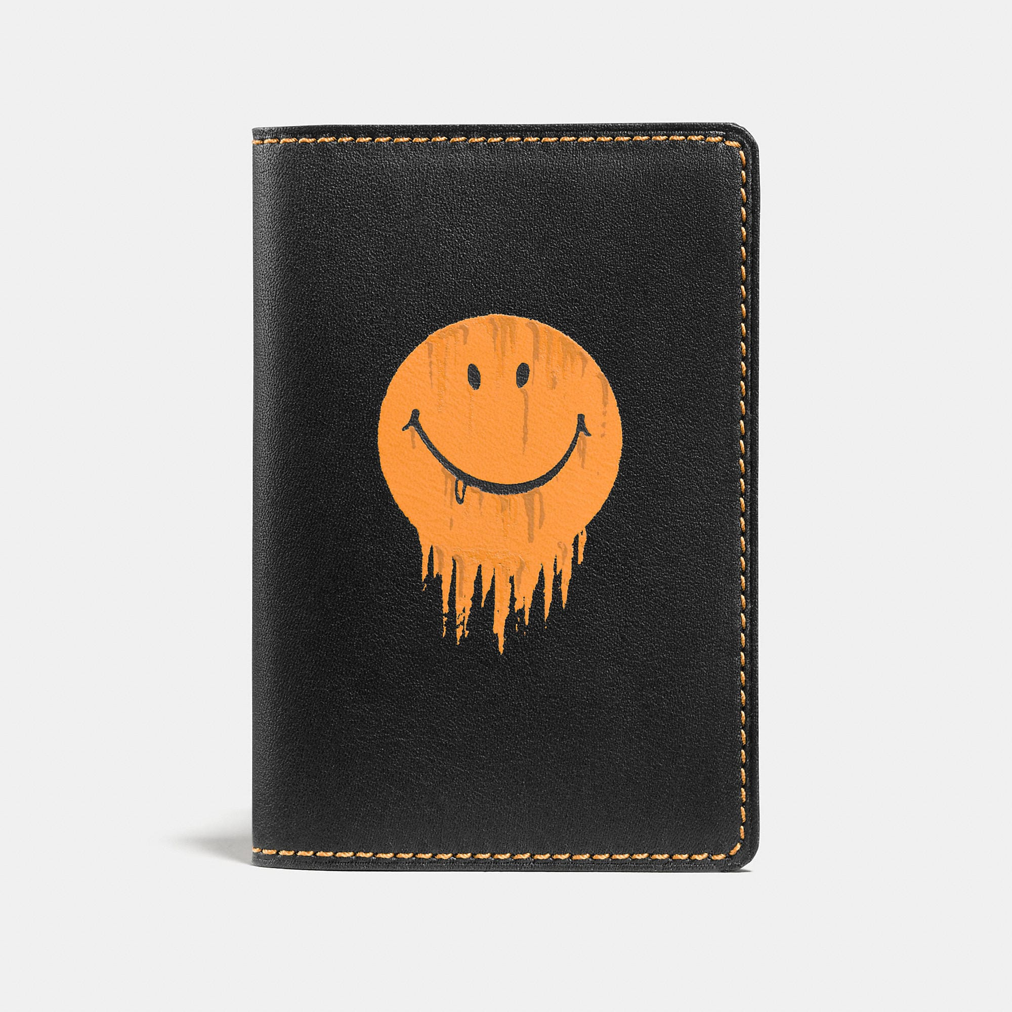 Coach Card Wallet In Glovetanned Leather With Gnarly Face Print