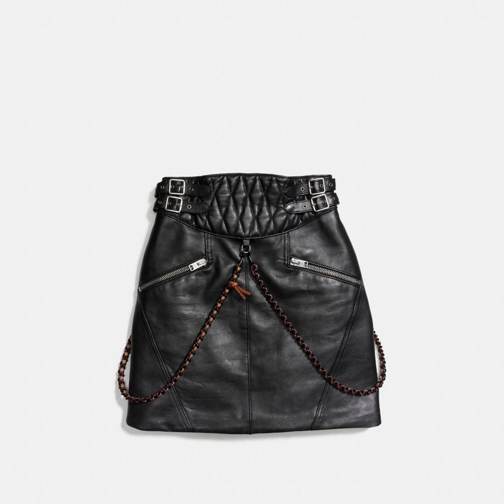 Belted Moto Skirt - Alternate View A1