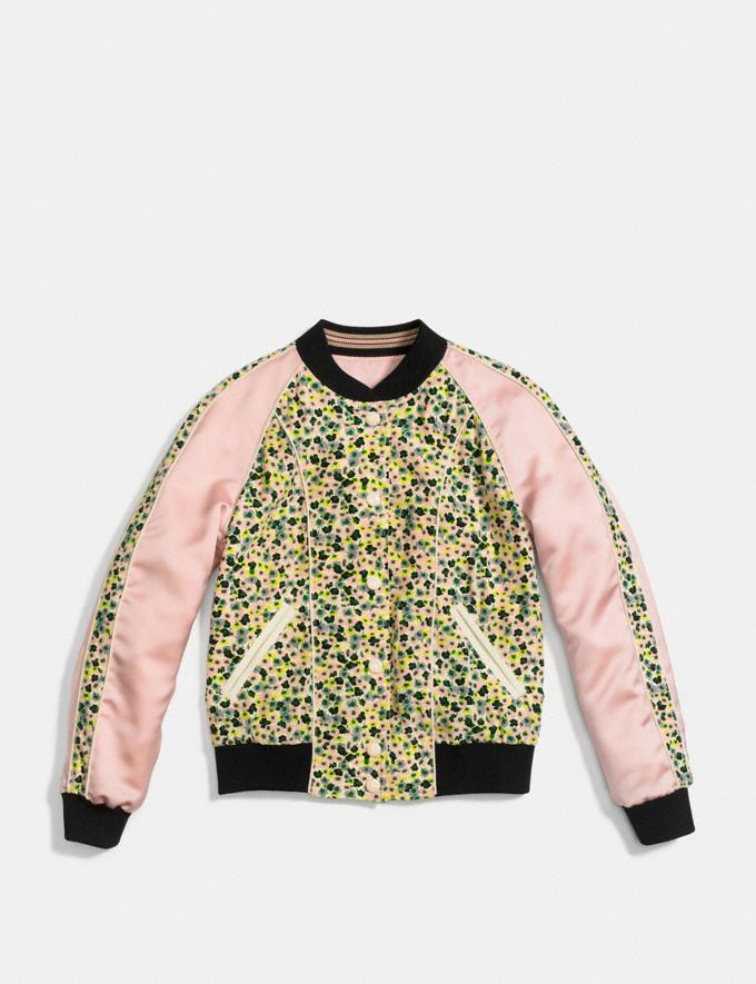 Coach Reversible Varsity Jacket Pink/Multi Runway Shop Women Ready-to-Wear Alternate View 1