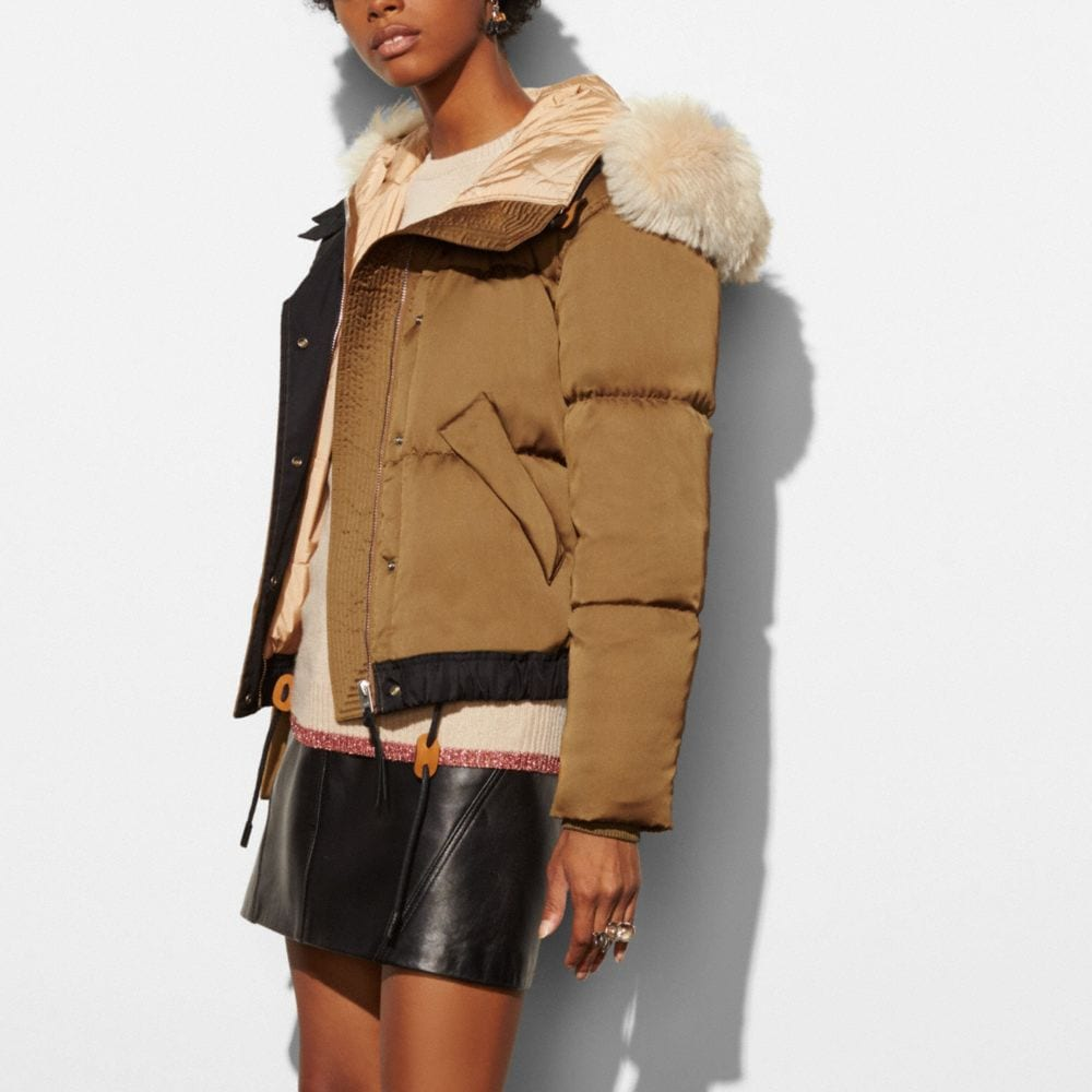 Icon Puffer Jacket With Shearling