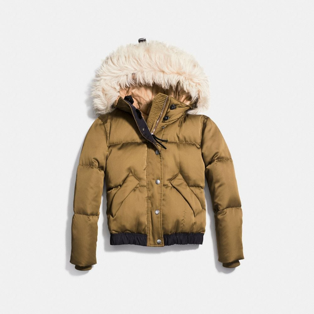 Icon Puffer Jacket With Shearling - Alternate View A1