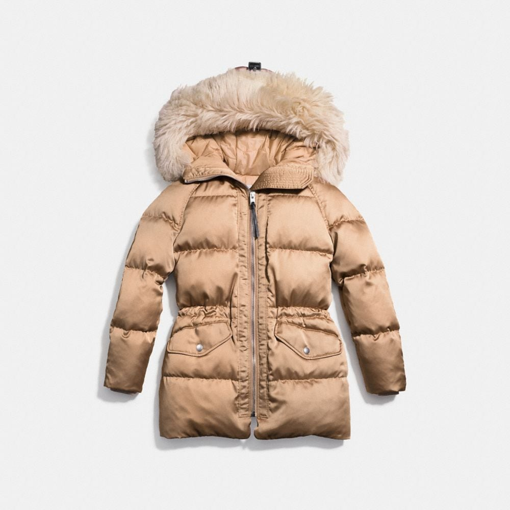 Icon Puffer Parka With Shearling - Alternate View A1