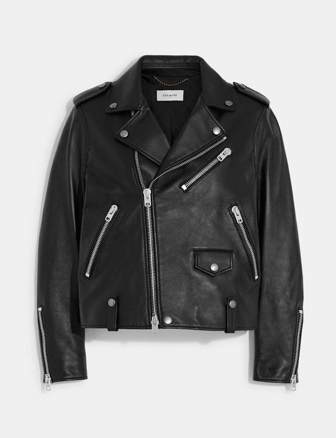 Coach Moto Jacket Black Women Ready-to-Wear