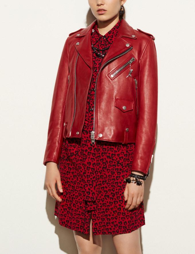 Coach Moto Jacket Cardinal Women Ready-to-Wear Alternate View 1