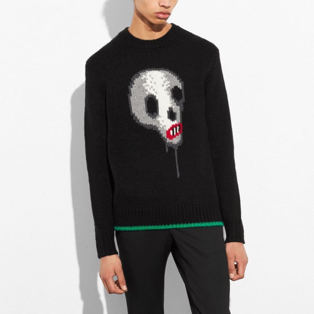 Coach Skull Crewneck Sweater