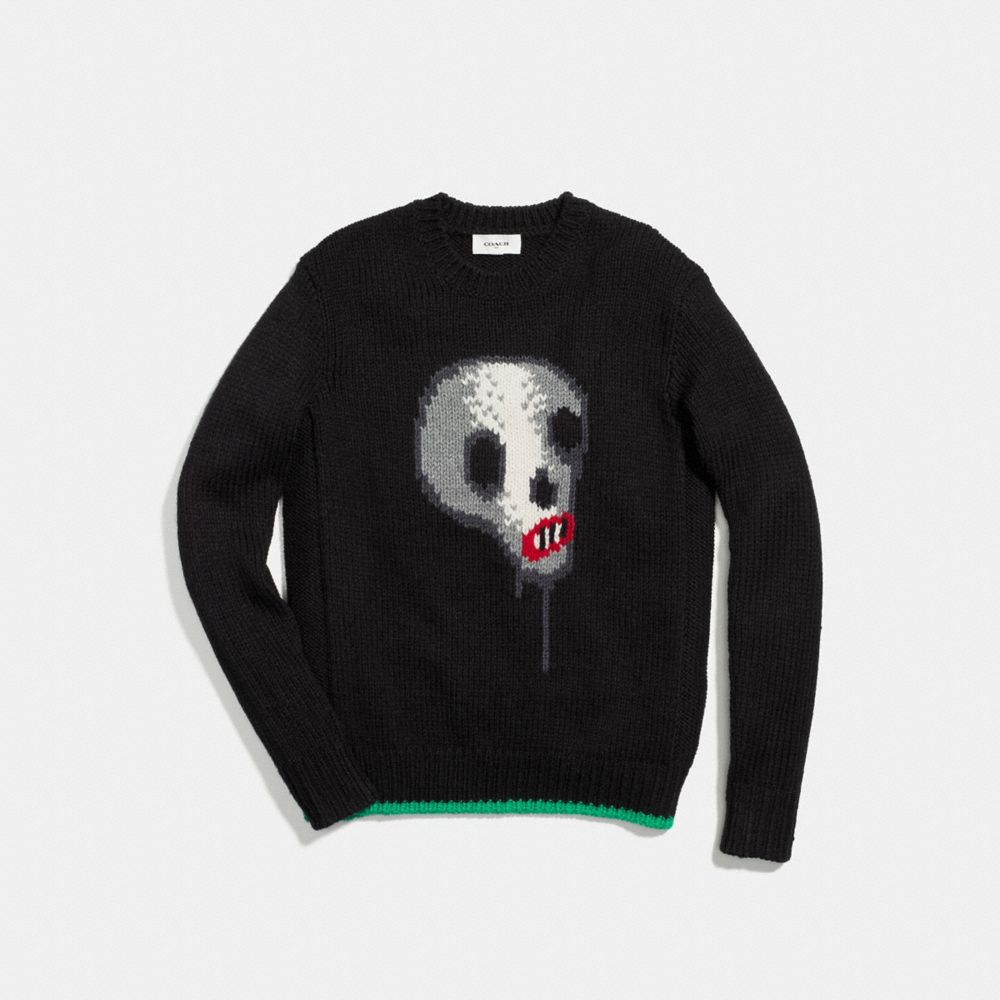 Coach Skull Crewneck Sweater Alternate View 1