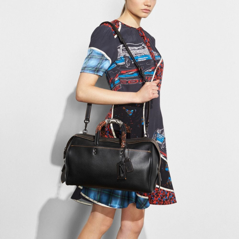 Rogue Satchel 36 With Patchwork Snake Handle - Alternate View A3